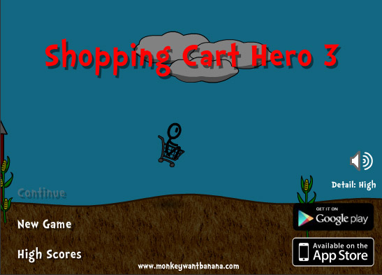 shopping cart hero 3 controls
